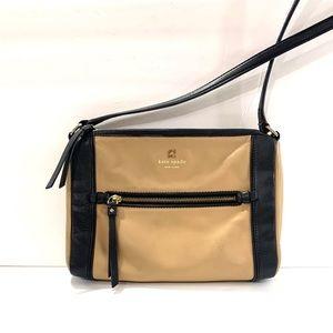 Kate spade ♠️ crossbody bag leather black beige